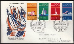 Germany Bonn 1972 / Olympic Games Munich / Wrestling, Gymnastics, Sailing, Swimming / FDC - Ete 1972: Munich