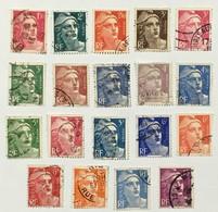 YT 712 à 724 (°) Oblitéré 1945-47 Marianne De Gandon Typographiés (côte 9 Euros) - Used Stamps