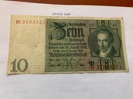 Germany 10  Marks Banknote 1929 - [ 3] 1918-1933: Weimarrepubliek