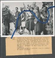 Photo Originale 12 X 18 Cm. Opération Mercure. Tonkin 30/03/1952. Thai Binh. Texte édifiant... - Guerre, Militaire