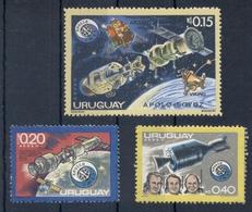 URUGUAY *1975 * 3 Stamps * MNH** Space - Mi.No 1356,1360,1364 - Uruguay