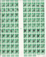 ALGERIE MOISSONNEUSE SURCHARGE EA FEUILLE DE 100 REPLIEE EN DEUX HORIZONTALEMENT COIN DATE 10.5.61 LUXE - 1957-59 Mietitrice