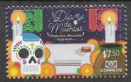 MEXICO, 2019, MNH, CELEBRATIONS, DAY OF THE DEAD, DIA DE LOS MUERTOS, 1v - Feesten
