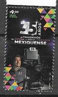 MEXICO, 2019, MNH, MEXICAN TV AND RADIO, 1v - Stamps