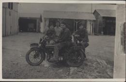 CPA Carte Photo Vaguelestre Ou Agent De Liaison En Moto Train Des équipages 1926 Militaria Motocyclette - Otros
