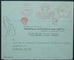 Portugal - Advertising Meter Franking Cover 1966 Vieira Shell Fruits Thermal Water São Bartolomeu De Messines - 1910-... Republic
