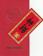 Nouvel An Chinois   **  Red Pocket  **  LE PRINTEMPS**  + Petit  Feuillet   R/V - Perfume Cards