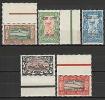 SAINT PIERRE ET MIQUELON 1934 YT N° 159A à 159E ** - Unused Stamps
