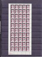 ALGERIE DECARIS  SURCHARGE EA FEUILLE DE 100 SEPAREE EN 2 REPLIEE  HORIZONTALEMENT COIN DATE 28.3.62 LUXE - 1960 Marianna Di Decaris