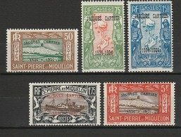SAINT PIERRE ET MIQUELON 1934 YT N° 159A à 159E */** - Unused Stamps