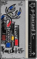 Switzerland: PTT KP-93/163D 310L Keller Fahnen - Sternzeichen Krebs, H. Knecht - Svizzera