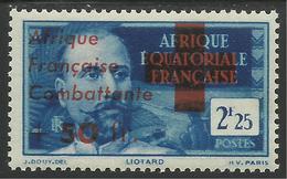 AFRIQUE EQUATORIALE FRANCAISE - AEF - A.E.F. 1943 YT 165** - Neufs