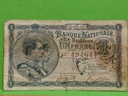 Belgique, Un Franc 1920. Q03 494644 - [ 2] 1831-...: Belg. Königreich