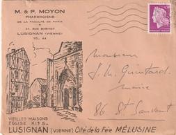 Enveloppe Illustrée Recto-verso Des Pharmaciens MOYON De LUSIGNAN (Vienne) Cité De La Fée Mélusine. (TTB) - Autres
