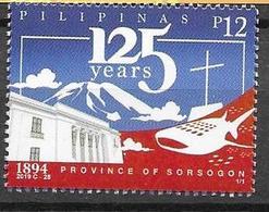 PHILIPPINES, 2019, MNH, SORSOGON PROVINCE, MOUNTAINS, SHARKS, WHALE SHARK, CHURCHES,1v - Poissons