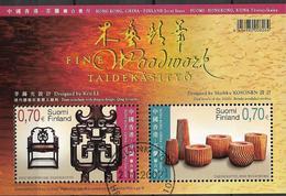2007 Finnland   Mi. Bl 45 Used  : Finnisches Und Chinesisches Kunsthandwerk - Blocs-feuillets