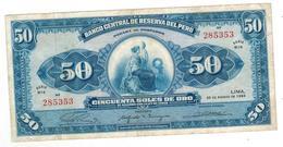 Peru 50 Soles, 1965. VF. - Peru