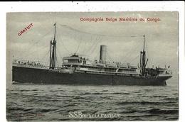 CPA Carte Postale-Belgique- S.S. Bruxellesville De La Cie Maritime Du Congo -1912   VM12646 - Steamers