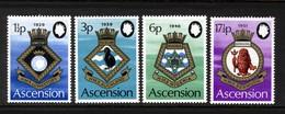 ASCENSION - 1972 ROYAL NAVY CRESTS (4th SERIES) SET (4V) FINE MNH ** SG 154-157 - Ascension
