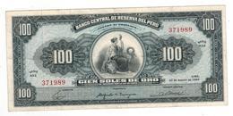 Peru 100 Soles, 1965. VF/XF. - Peru