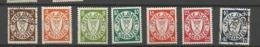 Danzig  1938 Mi.Nr.: 289-97 Coat Of Arms Watermark 5 Set Mint Hinged X, 3, 40 Pfg Cancelled O - Danzig