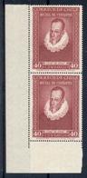 CHILE *1947 * Stamp In Block Of 2 * MNH** Cervantes - Mi.No 358 - Chili