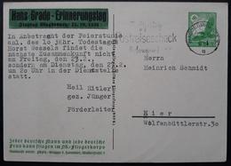 Sehr Seltene DR Privatganzsache PP142 C40 Gelaufen, Hans Grade Erinnerungstag , Echt Gelaufen Extrem Selten (1367) - Interi Postali
