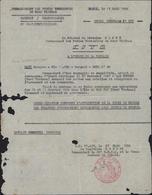 Commandement Forces Terrestres Nord Vietnam Citation Ordre Brigade Guerre Indochine Général Cogny Cachet SP 77 457 - Indochina (1889-1945)