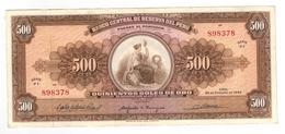 Peru 500 Soles, 1965. XF/aUNC. - Peru