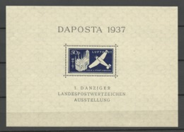 Danzig  1937  Mi.Nr.: Bloc 1+2  DAPOSTA Mint Never Hinged Xx - Danzig