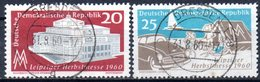 "(DDR-BM1) DDR ""Leipziger Herbstmesse 1960"" Mi 781/82 Sauber Gestempelt - [6] Democratic Republic"