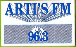 80 AMIENS  Autocollant  Radio ARTI'S FM (7,5x12cm) - Autocollants