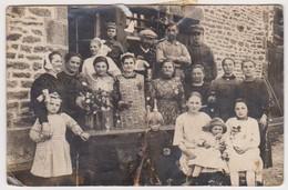 27263 Deux 2 Cartes Photo LAURENAN 22 -Mariage Groupe Folklorique ?  Femme Costume Breton -Sollignaux ! état ! - France