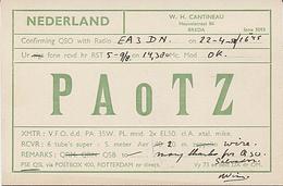 X120949 CARTE QSL RADIO AMATEUR PAOTZ ? PAoTZ ?  HOLLANDE HOLLAND NEDERLAND BREDA 1950 ? 1951 ?  DEUX SCANS - Radio Amateur