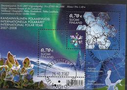 2007 Finnland   Mi. Bl 42 Used  Internationales Polarjahr - Blocs-feuillets