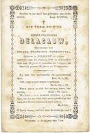 DIKSMUIDE - Petrus DELACAUW - (echtgen. C. Vandepitte) - Overleden 1863 - Images Religieuses
