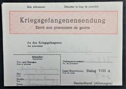 Formulaire Rouge COLIS Prisonnier De Guerre STALAG VIII A Zgorzelec POLOGNE - Guerre De 1939-45