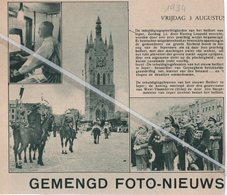 IEPER..1934.. INHULDIGINGSFEESTEN VAN HET NIEUWE BELFORT/ KONING LEOPOLD/ BEIAARDIER VAN GEYSEGHEM - Vieux Papiers
