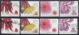 Australia 2005 Sc. 2397-2404 Fiori Wild Flowers Coil Prf 12 E 3/4 - Autoad. Perf. 11 X 11 E 1/4 (O.7f) - Flora