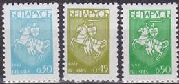 1992, Belarus, 14/16, MNH **, Definitive Issue - Coat Of Arms. Wappen - Belarus