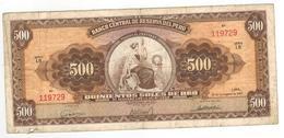 Peru 500 Soles, 1963. F+. - Peru