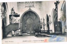 INGRE  45  Interieur De L' église ( Tache Bas Droit ) - France