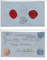 Italia 1881 Raccomandata Roma Capri Ambulante Roma Foggia Sigilli Ceralacca LEGGI - 1878-00 Humberto I