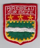 Ecusson Tissu - Mirebeau-sur-Bèze (21) - Blason - Armoiries - Héraldique - Ecussons Tissu