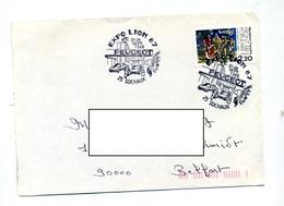 Lettre Cachet Sochaux Expo Peugeot Theme Velo Vespa - Storia Postale