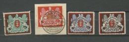 Danzig  1921  Mi.Nr.: 87-89, 99  Coat Of Arms 5 -20 M. Set Cancelled O - Danzig