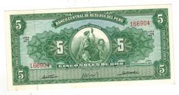 Peru 5 Soles, 1963. AUNC. - Peru