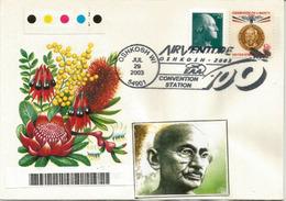 Hommage Au Mahatma Gandhi. Champion Of Liberty, On Letter Wisconsin 2003 (USA) - Mahatma Gandhi