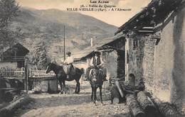 CPA LES ALPES - Vallée Du Queyras - VILLE-VIEILLE ( 1384m ) - A L' Abreuvoir - France