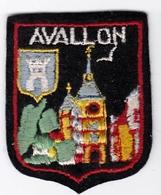 Ecusson Tissu - Avallon (89) - Blason - Armoiries - Héraldique - Ecussons Tissu